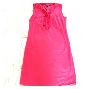 Lands End Pink ruffle button front dress size 4